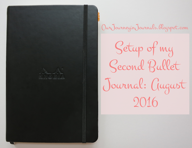 setup of my second bullet journal: august 2016