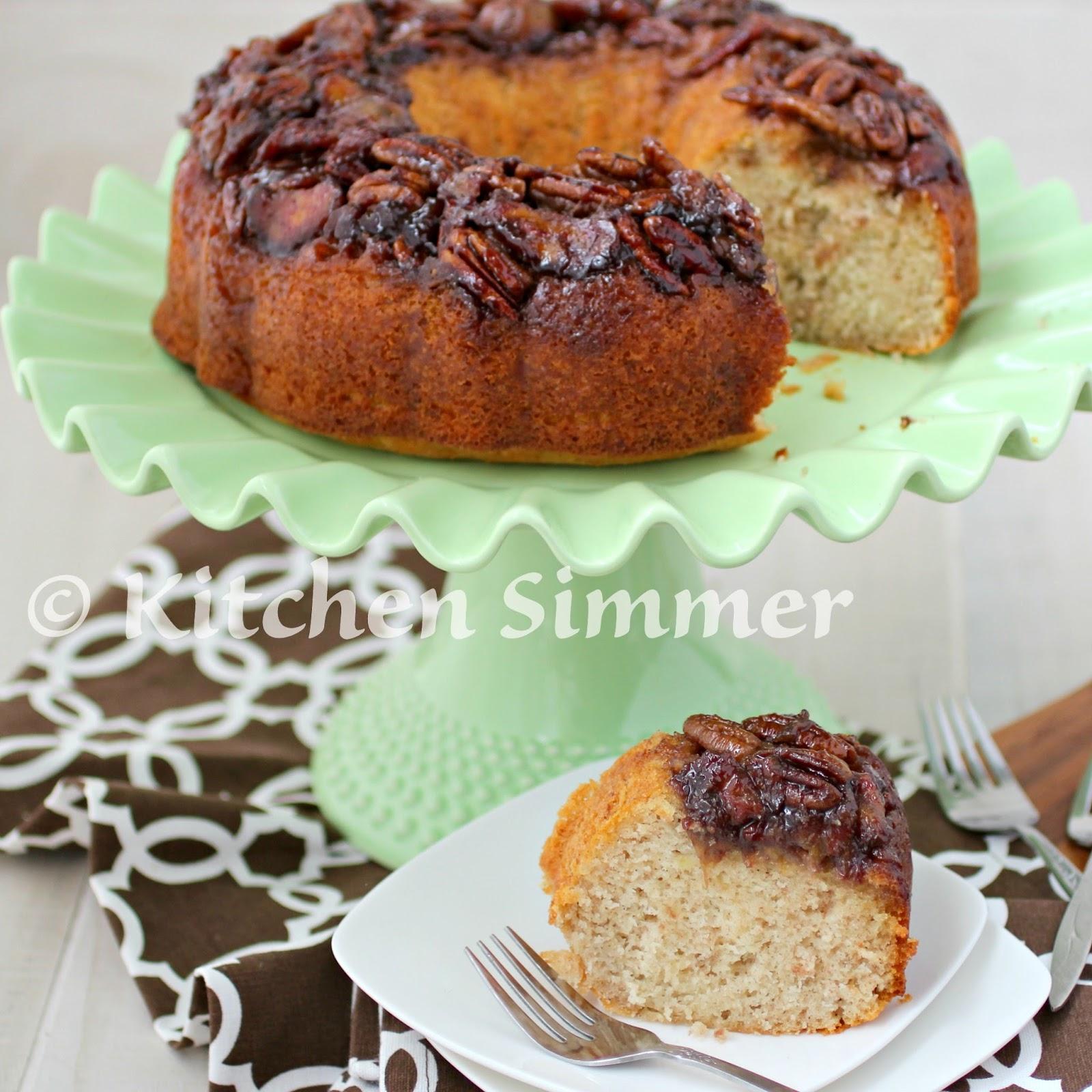 Breakfast Recipes 2017 4 3 Banana Bundt Walnut Cake >> Kitchen Simmer Banana Nut Bundt Cake