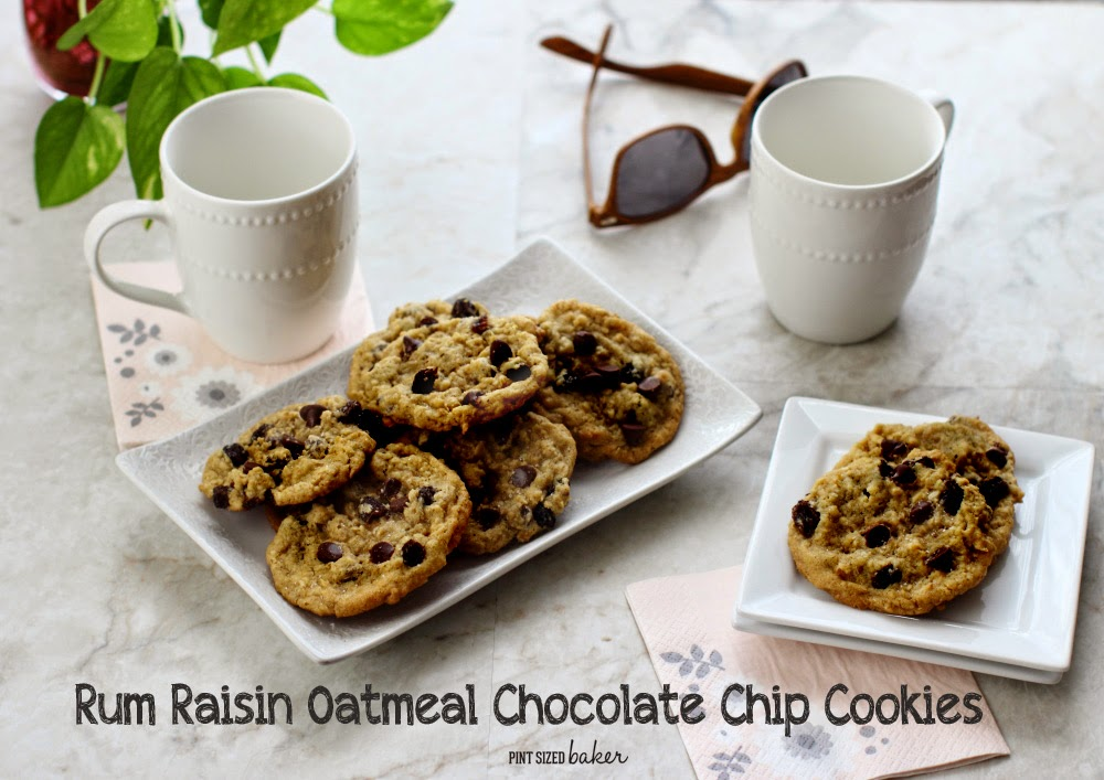 Rum Raisin Oatmeal Chocolate Chip Cookies are perfect for your girls night in!