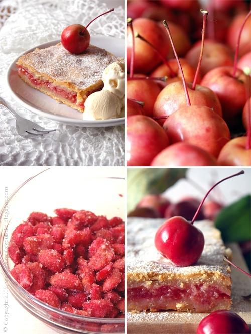krucha szarlotka z jabłuszek rajskich