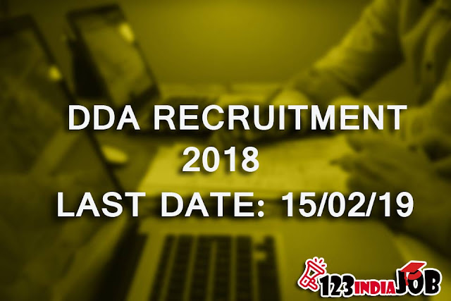 DDA RECRUITMENT 2018: Assistant Executive Engineer