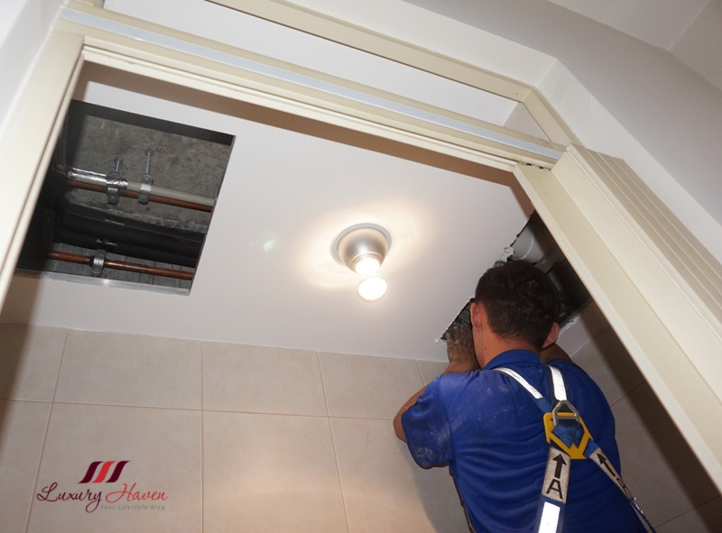 air connection aircon installation groundwork