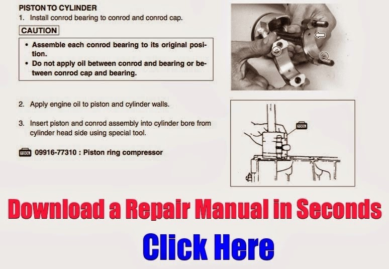 download yamaha atv repair manuals: download yamaha 80 repair manual badger grizzly  raptor