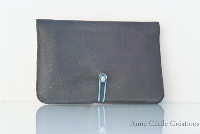 portefeuille noir elastique boule