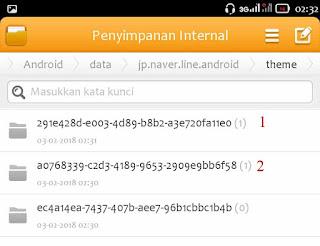 cara tema line gratis android terbaru