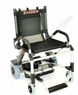 silla electrica plegable y ligera Zinger