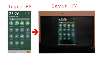Cara screen mirroring hp ke tv