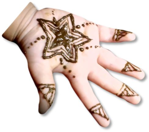 Star Mehndi Designs for Kids
