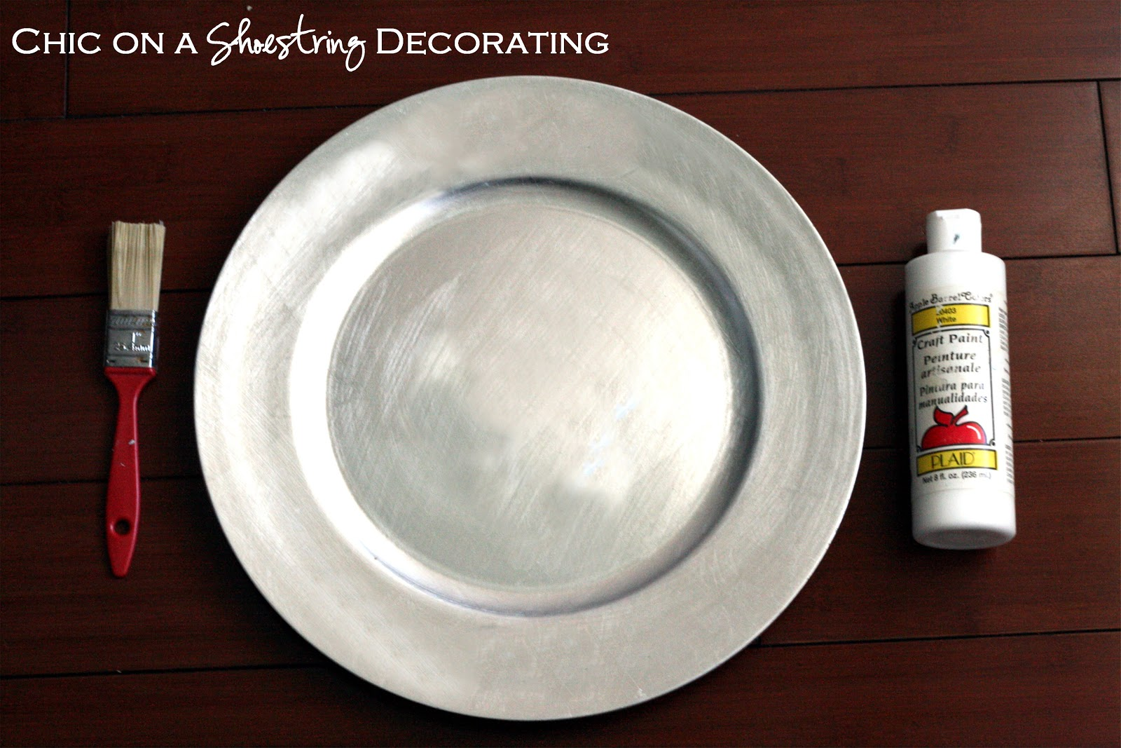 Handprint Christmas Plate Keepsake Craft for Kids & Chic on a Shoestring Decorating: Handprint Christmas Plate Keepsake ...