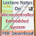 Lecture Notes on Microcontroller and Embedded System PDF Material Download