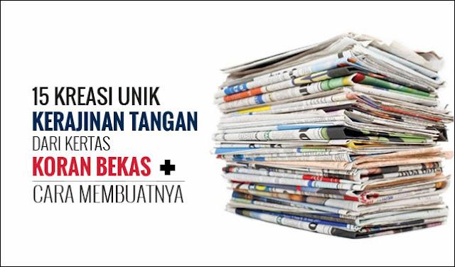 Kerajinan Tangan dari Koran