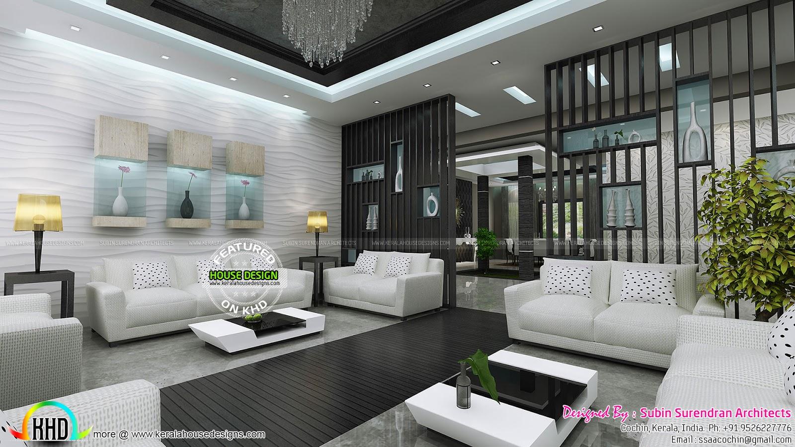 master bedrooms dining home theater interiors kerala home grand living room interior kerala