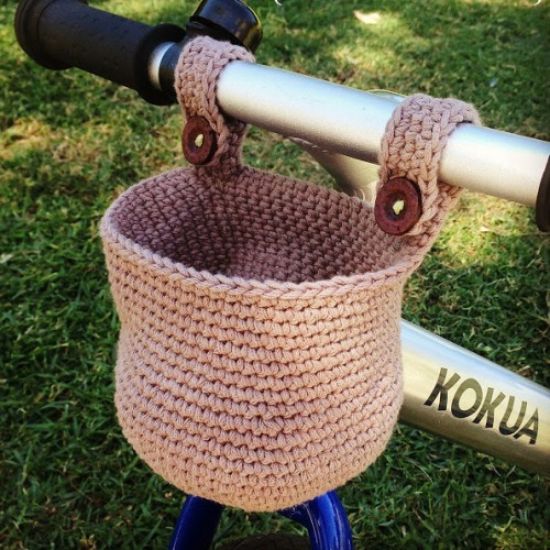 Crochet Basket for Kids' Bike - Free Pattern