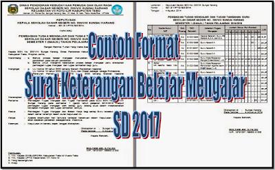Contoh Format Surat Keterangan Belajar Mengajar SD 2017
