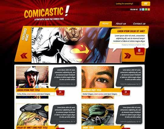 Create a Comic Book Themed Web Design, Photoshop to HTML + CSS