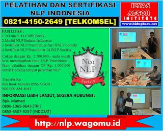 Pelatihan dan Sertifikasi NLP Jakarta 2017 2018
