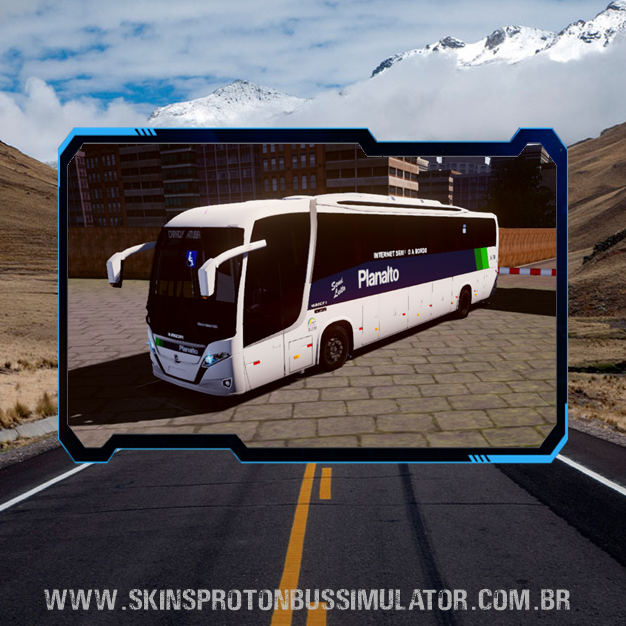 Skin Proton Bus Simulator Road - New Vissta Buss 360 MB O-500RS BT5 Viação Planalto
