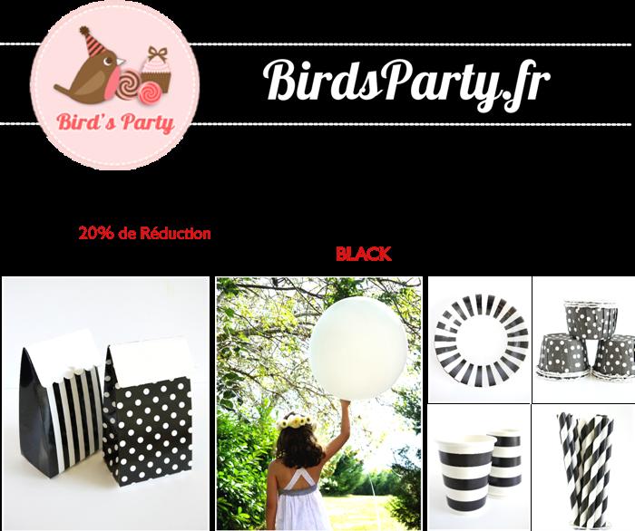 Black Friday -20% Sur toute la boutique avec ce code promo | BirdsParty.fr