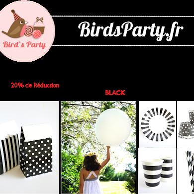 Black Friday -20% Sur BirdsParty.fr