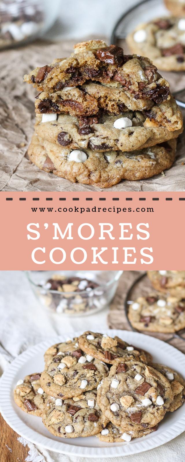 S'Mores Cookies #christmas #cookies