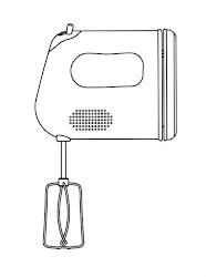 utensilios colorear cocina dibujos batidora