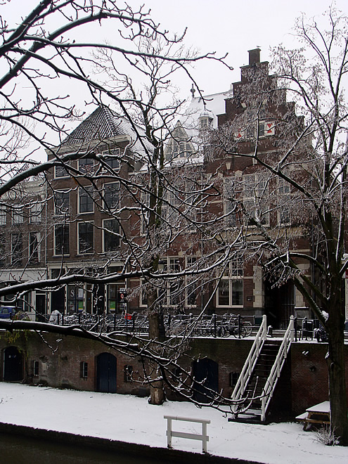 Utrecht Oude Gracht Winter