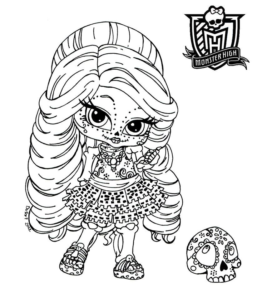 Monster High Dibujos Para Imprimir Y Colorear Monster High Bebe