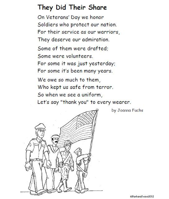 Top 20+ Veterans Day Poems Poetry For Kids 2018 (All Time