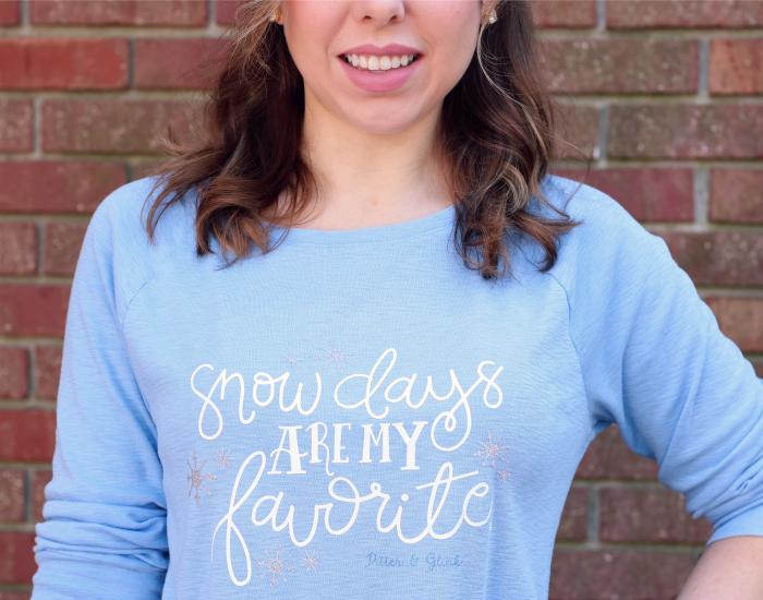 DIY Snow Days T-shirt