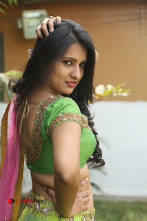 Actress Nikitha Bisht Stills in Lehenga Choli at Pochampally Ikat Art Mela Launch  0210.JPG