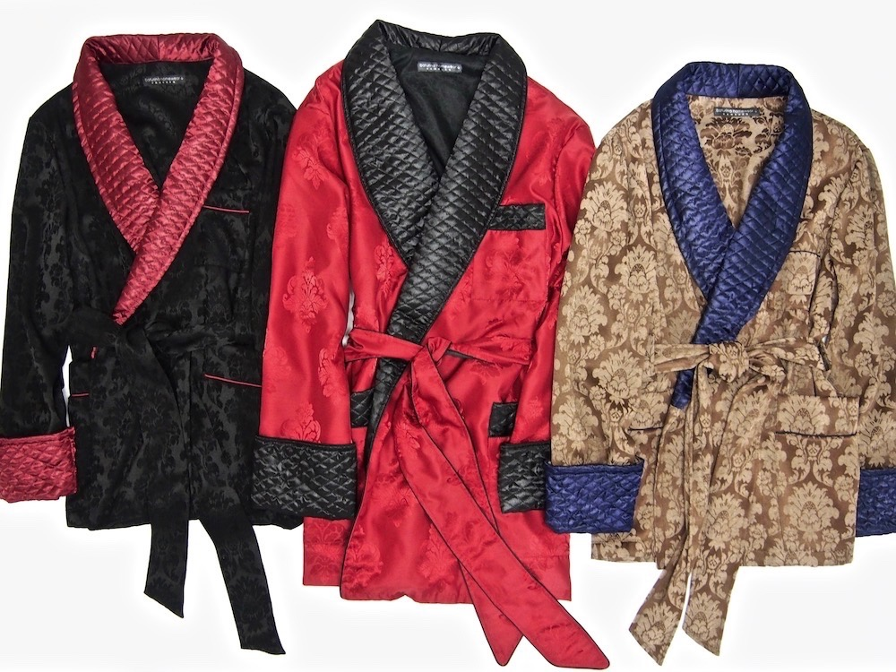 a950b72a194 Men s Quilted Smoking Jackets and Robes