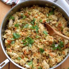 Cómo hacer arroz frito con pollo
