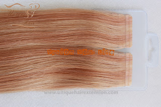 Peruvian hair tape extensions