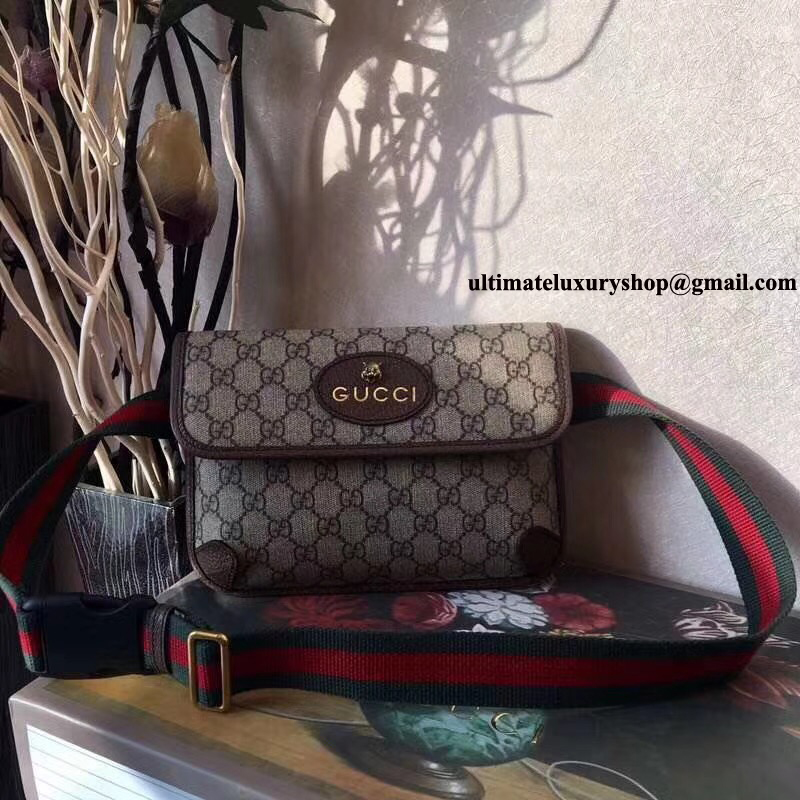 a3f6139afc59 Authentic Quality Perfect 1:1 Mirror Replica Gucci GG Supreme Belt ...