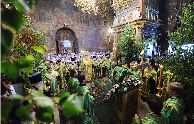 Why Orthodox Churches Are Decorated With Trees Grass And Flowers On
