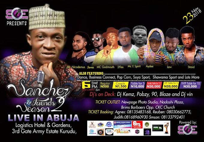 Abuja: Kurudu to host Sanchez and Friends season 2