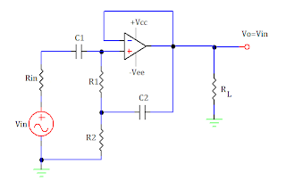 op amp based ac voltage follower circuit with bootstrapped resistance