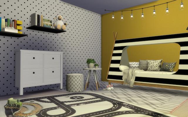 chambre enfant jaune sims 4