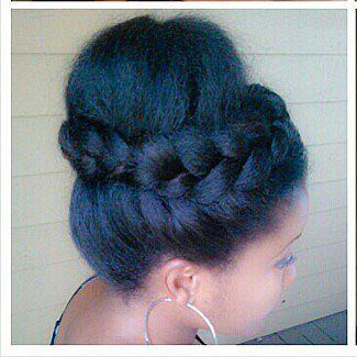 protective styles: braided bun