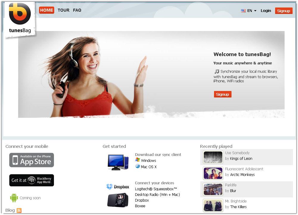 Tunesbag: Online Music Player - Cloud Media News
