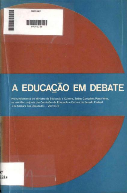 A educação em debate - Ministério da Educação