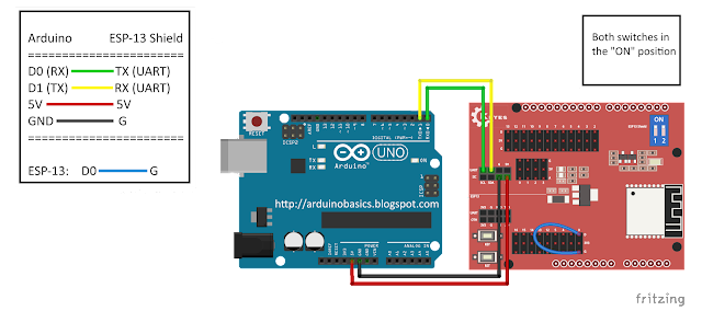 Arduino Basics: ESP-13 WiFi Shield Web Server