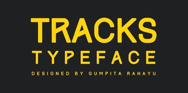 free font track typeface