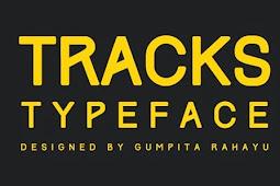 TRACK TYPE - font gratis buatan anak bangsa