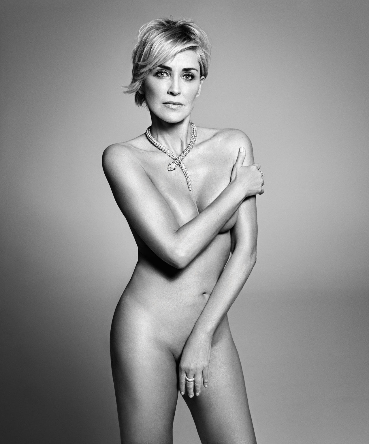 Sharon Stone - Harper's Bazaar September 2015 photoshoot