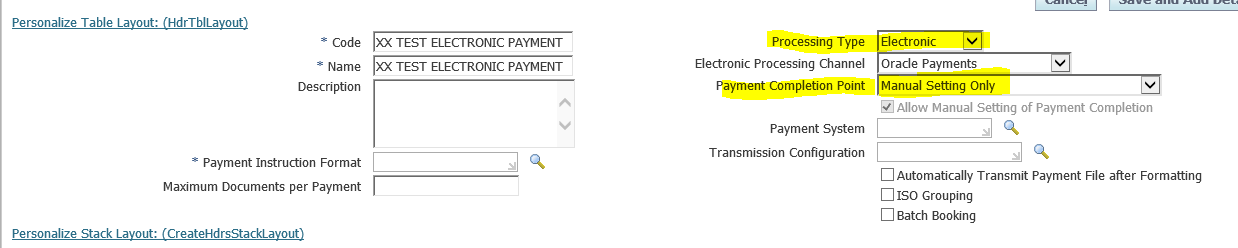 Oracle Application S Blog Payment Process Profiles In Oracle Apps R12 How To Create Payment Process Profile