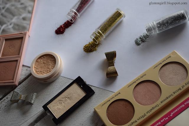 #Przegląd kosmetyczki - rozświetlacze / The balm / MUR / Wibo / Lovely