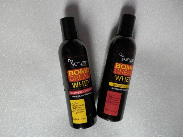 RESENHA: Shampoo e Condicionador - Bomb Cream Whey da Yenzah