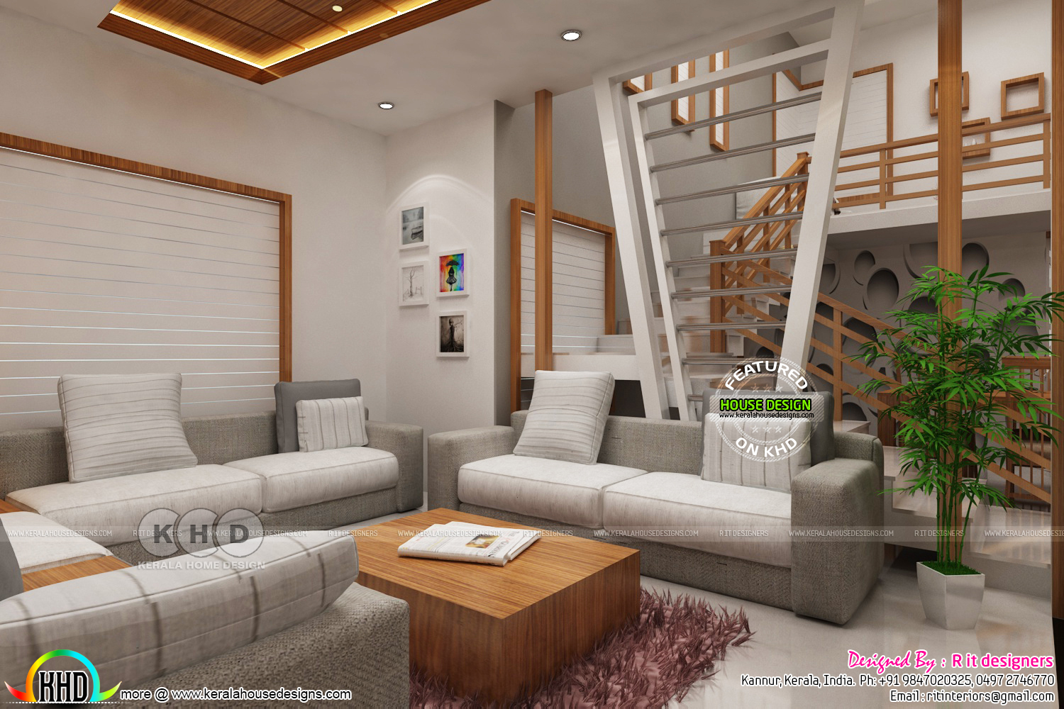 Kerala interiors designs - Living - Kerala home design and floor