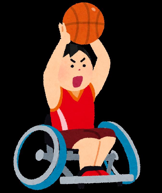 車いすバスケットボールのイラスト パラリンピック かわいいフリー素材集 いらすとや